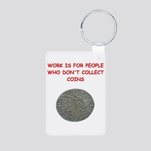 coin collector Aluminum Photo Keychain