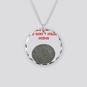 coin collector Necklace Circle Charm