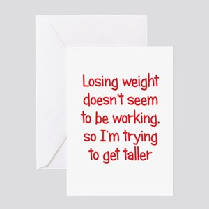 Trying lose weight greeting cards cafepress weight loss secrets greeting card m4hsunfo