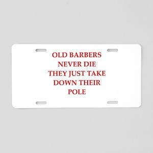 barber Aluminum License Plate