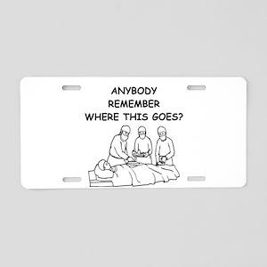 doctor joke Aluminum License Plate