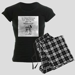 pediatricia physician joke Women's Dark Pajamas
