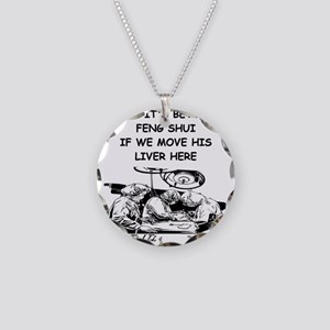 a funny doctor joke Necklace Circle Charm