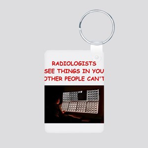 radiology radiologist joke Aluminum Photo Keychain