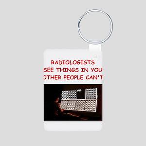 radiology radiologist joke Aluminum Photo Keychain