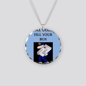 mailman gifts and t-shirts Necklace Circle Charm