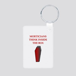 mortician undertaker Aluminum Photo Keychain