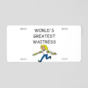 world's greatest waitress Aluminum License Plate
