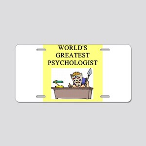 psychology gifts t-shirts Aluminum License Plate
