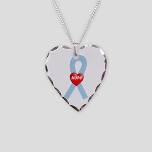 Lt. Blue Hope Necklace Heart Charm