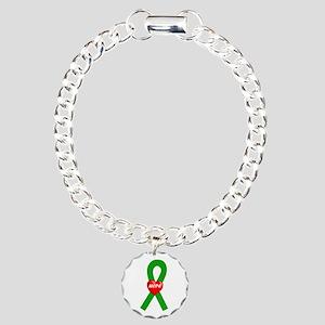 Green Hope Charm Bracelet, One Charm