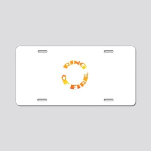RING OF FIRE II Aluminum License Plate