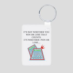 funny bingo joke Aluminum Photo Keychain