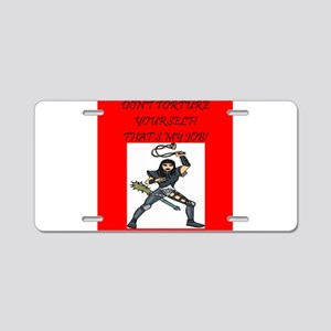 magic gifts and t-shirts Aluminum License Plate