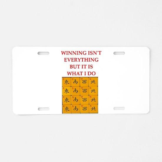 funny mahjong Aluminum License Plate
