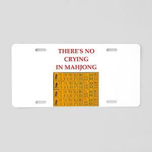 i love mahjong Aluminum License Plate