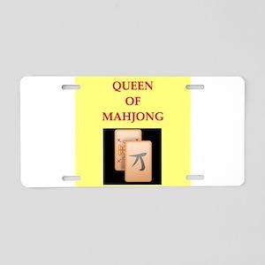 mahjong players Aluminum License Plate