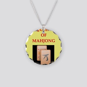 mahjong players Necklace Circle Charm