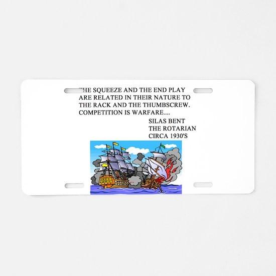 bridge game Aluminum License Plate