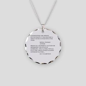 bridge game Necklace Circle Charm