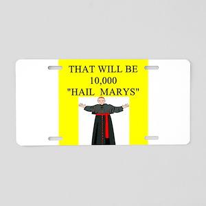 catholic joke Aluminum License Plate