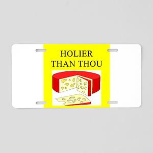 christian cheese joke Aluminum License Plate