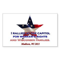 I Rallied - Flag Star Sticker (Rectangle 50 pk)