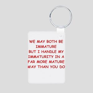 maturity joke Aluminum Photo Keychain