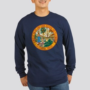 Coat of Arms (Front) Long Sleeve Dark T-Shirt