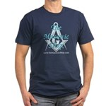 The Masonic Shop Logo Men's Fitted T-Shirt (dark)