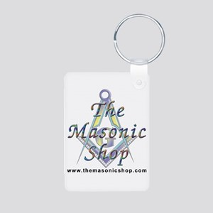 The Masonic Shop Logo Aluminum Photo Keychain