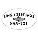 USS CHICAGO Sticker (Oval)