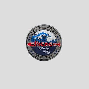 USS CHICAGO Mini Button