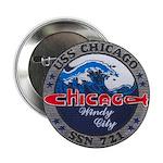 """USS CHICAGO 2.25"""" Button"""