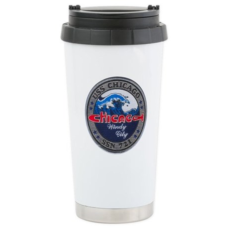 USS CHICAGO Stainless Steel Travel Mug