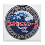 USS CHICAGO Tile Coaster