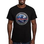 USS CHICAGO Men's Fitted T-Shirt (dark)