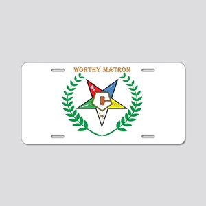 Worthy Matron Aluminum License Plate