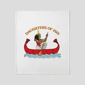 Daughters of Isis Throw Blanket
