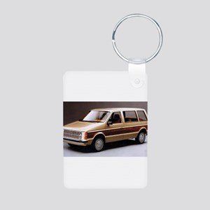 1984 Dodge Caravan Aluminum Photo Keychain
