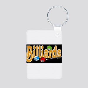 Billiards Aluminum Photo Keychain