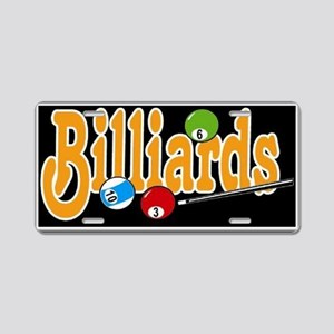 Billiards Aluminum License Plate