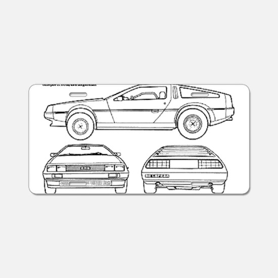 DeLorein Aluminum License Plate