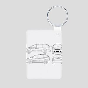 Chrysler Voyager Aluminum Photo Keychain