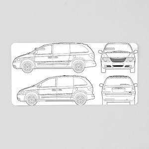 Chrysler Voyager Aluminum License Plate
