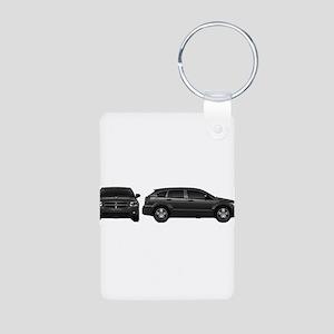 Dodge Calibur Aluminum Photo Keychain