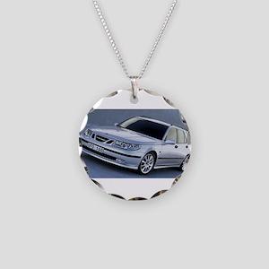 Saab 9.5 Necklace Circle Charm