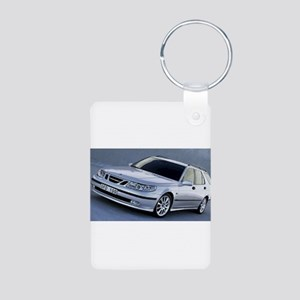 Saab 9.5 Aluminum Photo Keychain