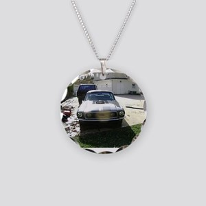 68 Mustang Necklace Circle Charm