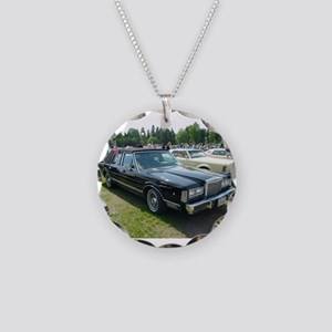Town Car Necklace Circle Charm